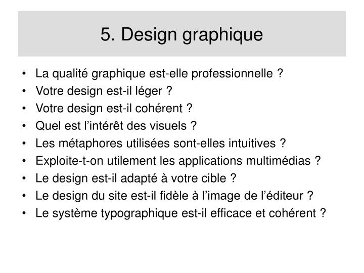 5. Design graphique