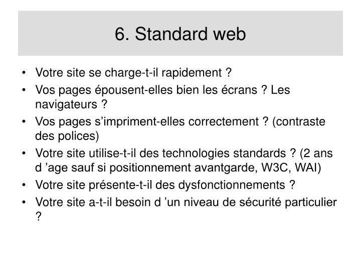 6. Standard web