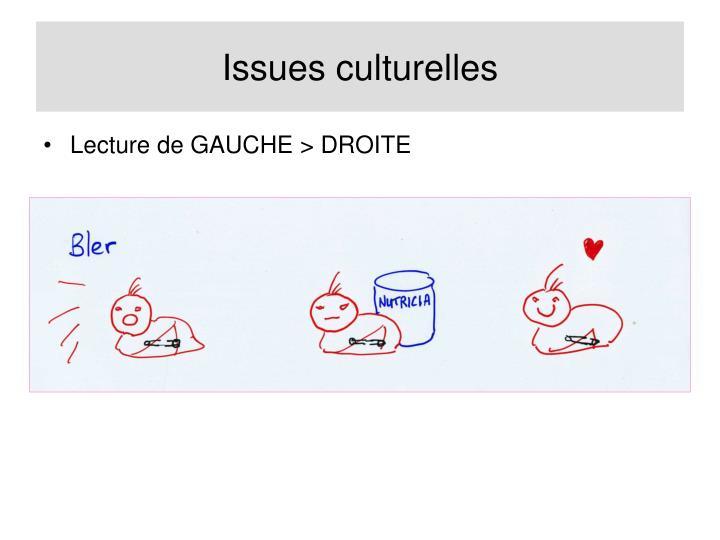Issues culturelles
