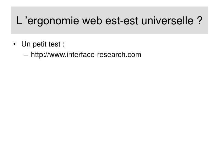 L'ergonomie web est-est universelle ?