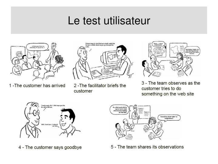 Le test utilisateur