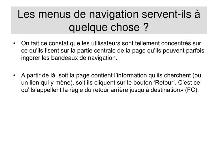Les menus de navigation servent-ils à quelque chose ?