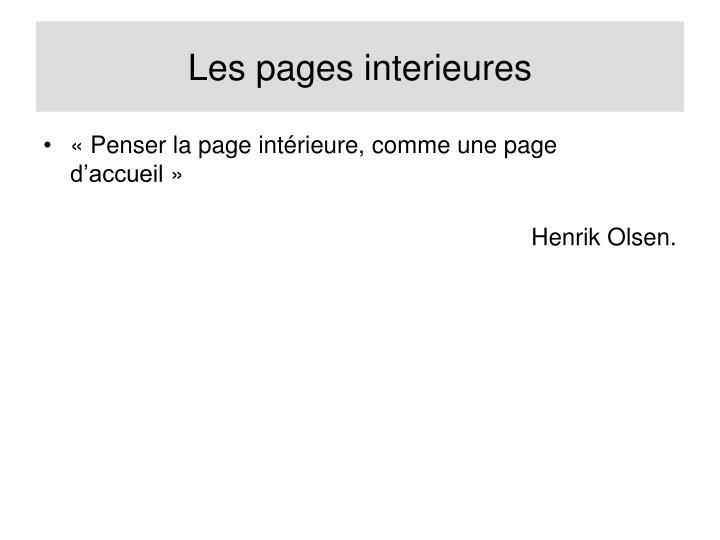 Les pages interieures