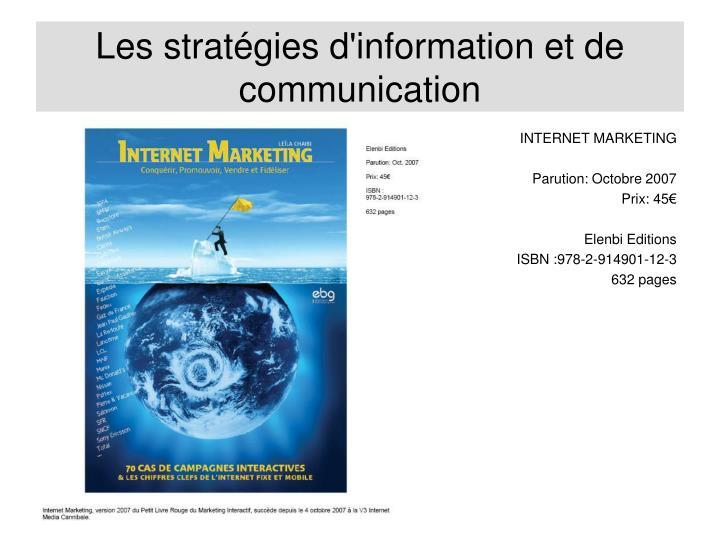 Les stratégies d'information et de communication