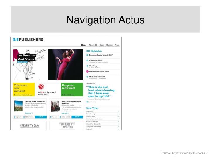 Navigation Actus