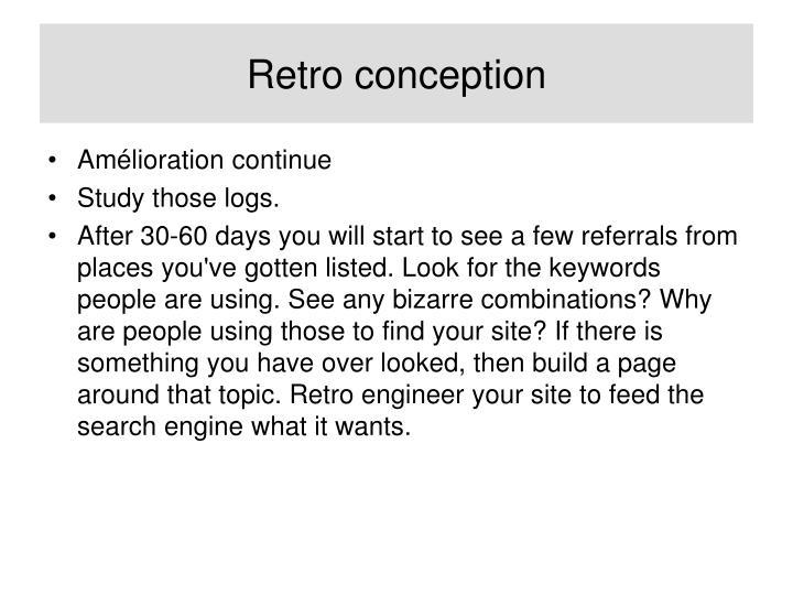 Retro conception