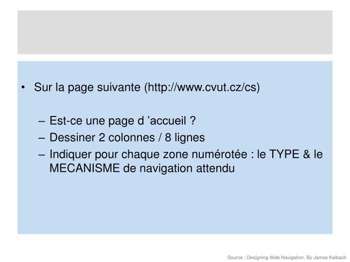 Sur la page suivante (http://www.cvut.cz/cs)