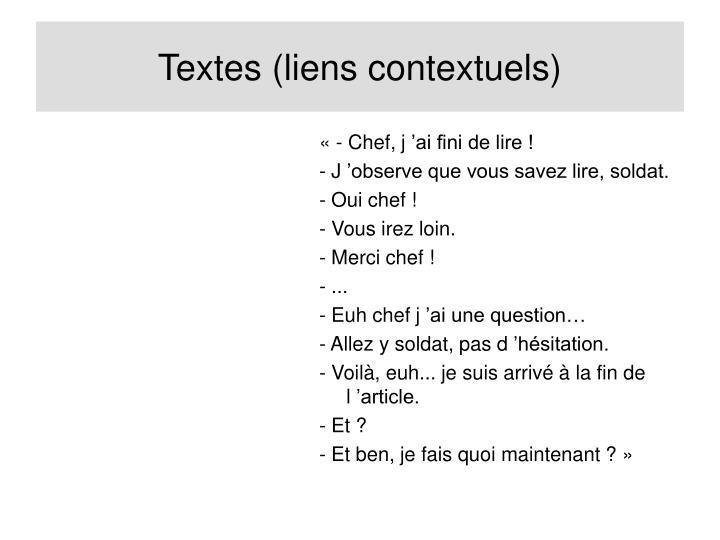 Textes (liens contextuels)