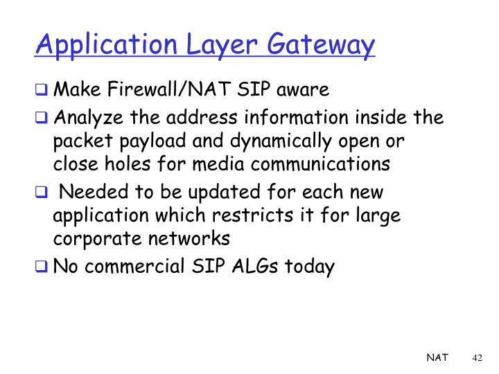 Application Layer Gateway