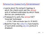 i nteractive c onnectivity e stablishment