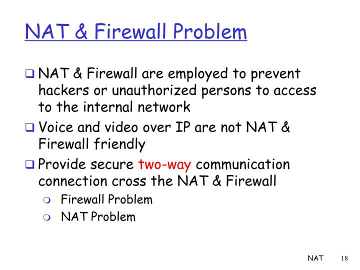 NAT & Firewall Problem