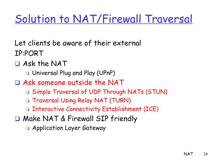 Solution to NAT/Firewall Traversal
