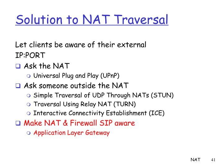 Solution to NAT Traversal