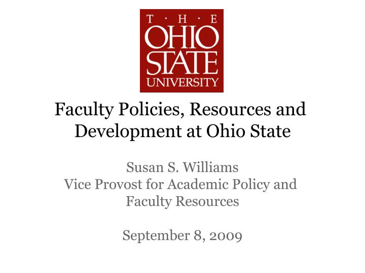 Faculty Policies, Resources and
