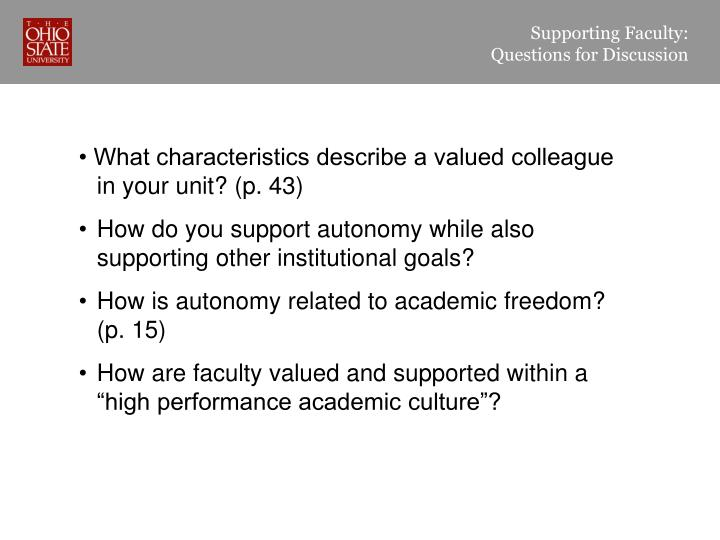 Supporting Faculty: