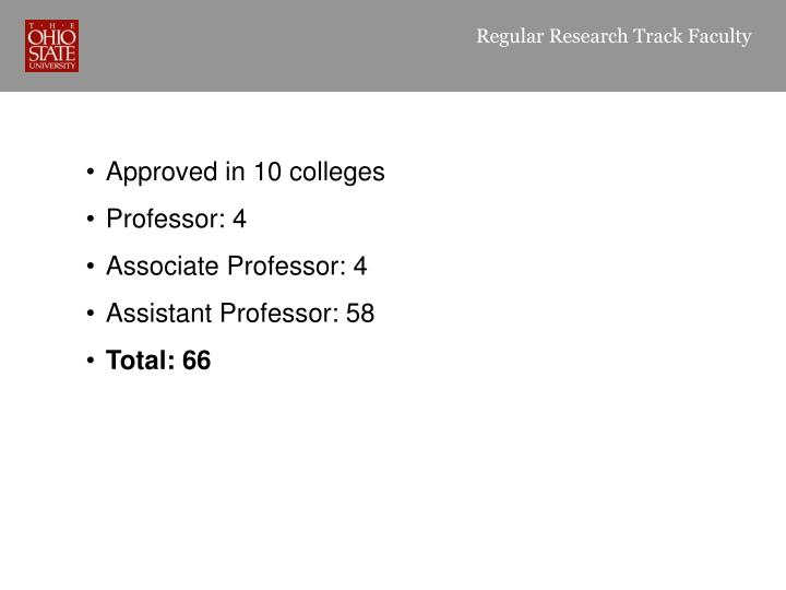 Regular Research Track Faculty