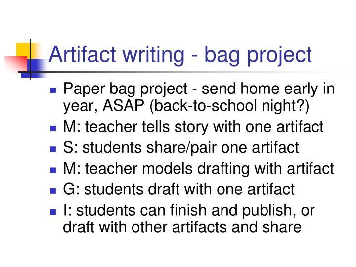 Artifact writing - bag project