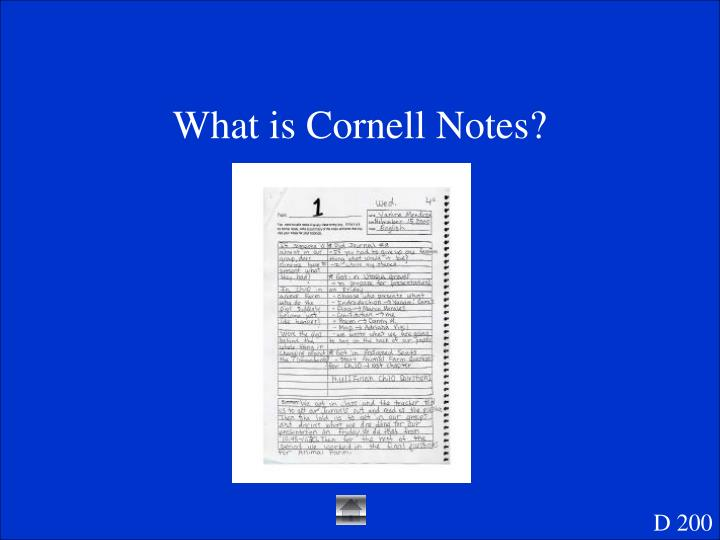 What is Cornell Notes?