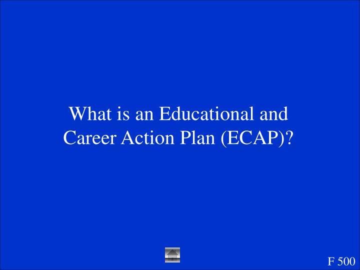 What is an Educational and Career Action Plan (ECAP)?