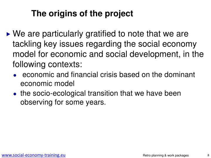 The origins of the project