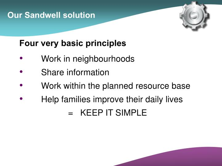 Our Sandwell solution