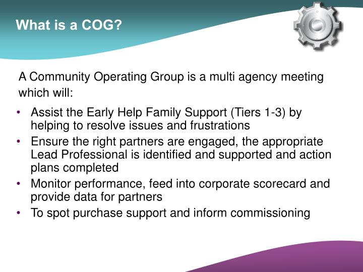What is a COG?