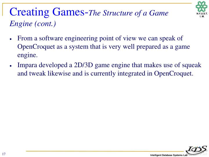 Creating Games-