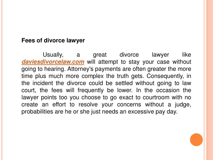 Fees of divorce