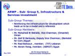arwp sub group 5 infrastructure services investment