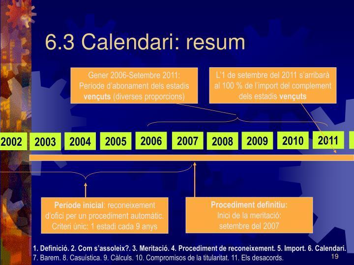 6.3 Calendari: resum