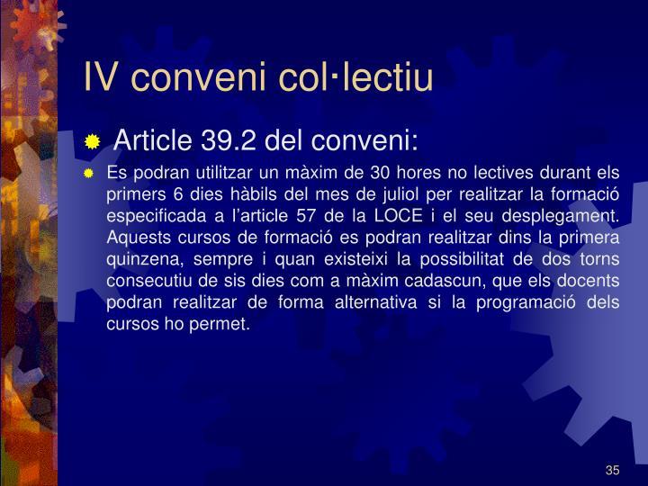 IV conveni col·lectiu