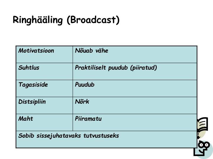Ringhääling (Broadcast)