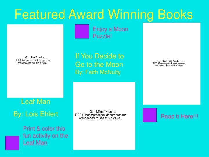 Featured Award Winning Books