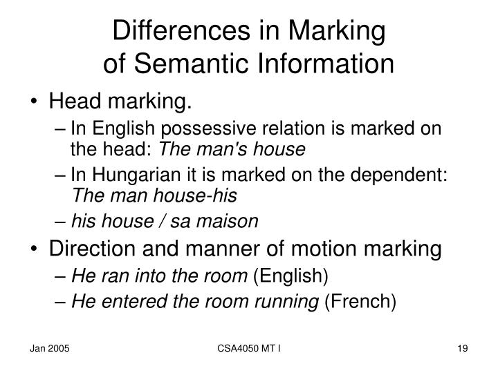 Differences in Marking