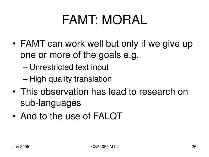 FAMT: MORAL