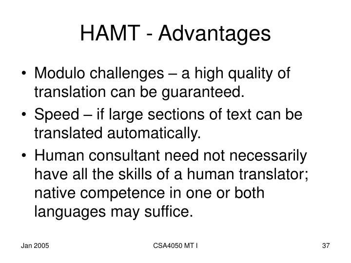 HAMT - Advantages