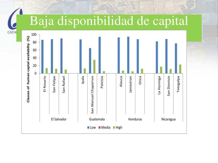 Baja disponibilidad de capital humana