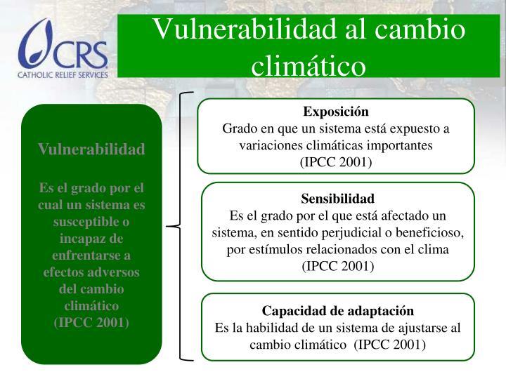 Vulnerabilidad al cambio climático