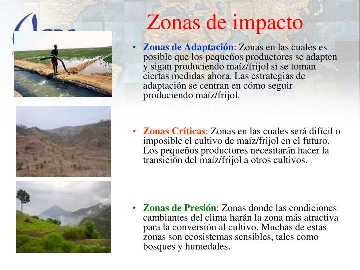 Zonas de impacto