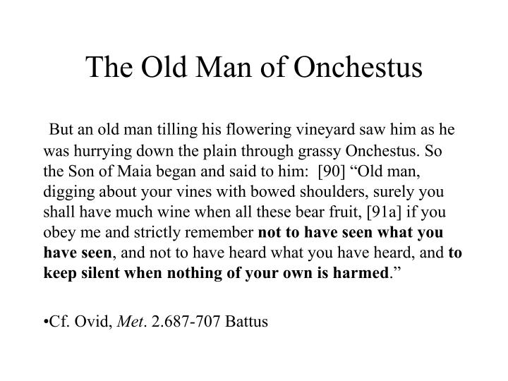 The Old Man of Onchestus