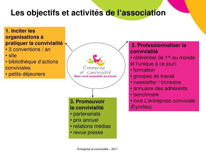 Les objectifs et activités de l