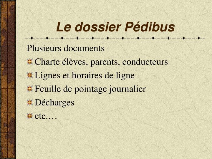 Le dossier Pédibus