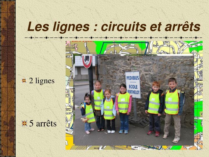 Les lignes : circuits et arrêts