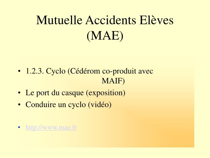 Mutuelle Accidents Elèves