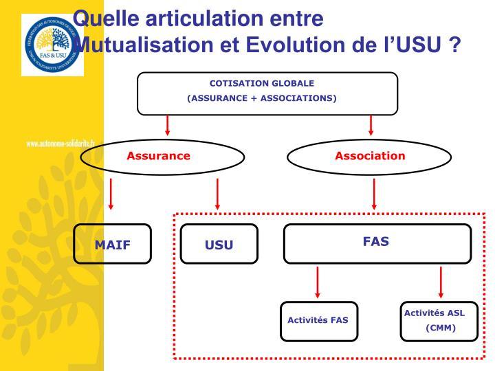 Quelle articulation entre Mutualisation et Evolution de l'USU ?
