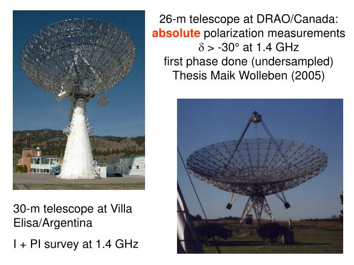 26-m telescope at DRAO/Canada: