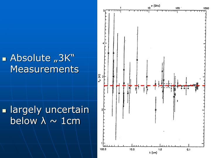 "Absolute ""3K"" Measurements"