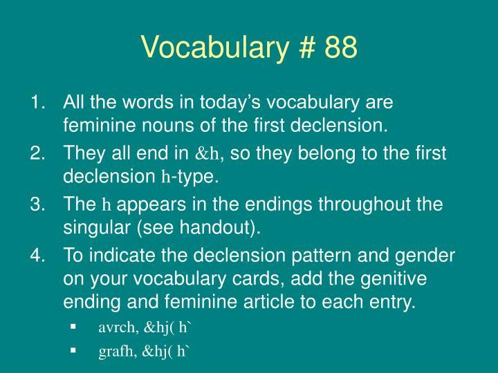 Vocabulary # 88