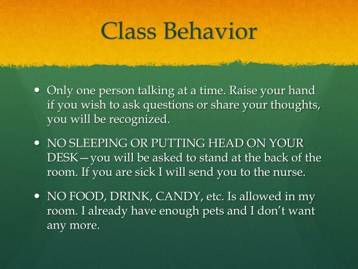 Class Behavior