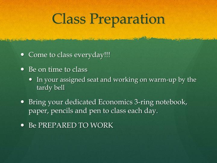 Class Preparation